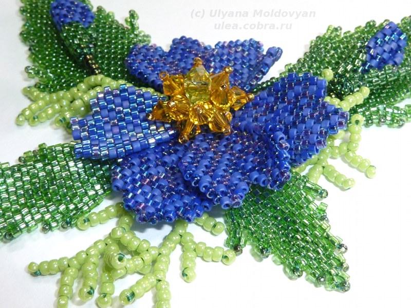 цветок из бисера колье - Сайт о бисере.