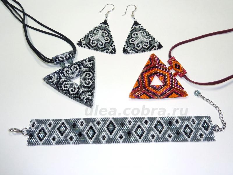 Мозаичное плетение из бисера.