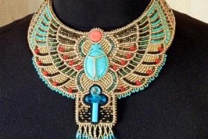 Колье на заказ в египетском стиле