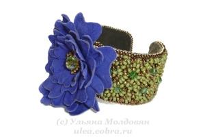 Браслет Синий цветок