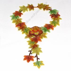 Колье из кленовых листьев ''Осенние забавы''