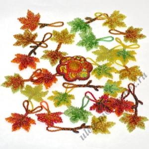 Элементы колье - листья клёна