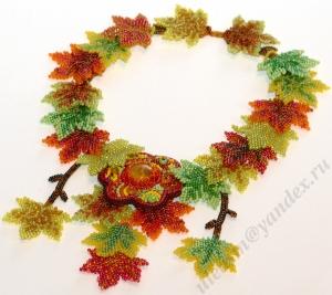 Колье из осенних листьев