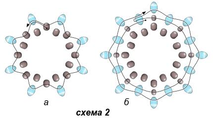 Схема серёжек и кулона 2