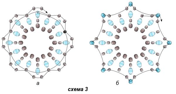 Схема серёжек 3